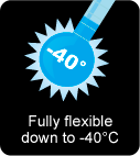Fully flexible down to -40°C